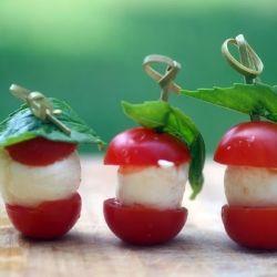 Caprese Bites - Insalata Caprese in miniature!    ---If I grew mozzarella in mybackyard, I'd be set!@