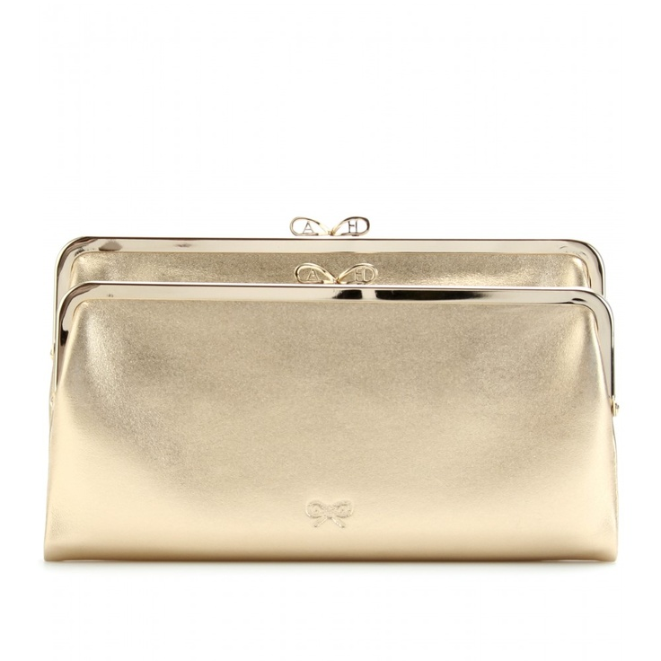 Anya Hindmarch - Luce Metallic Leather Fold-over Clutch