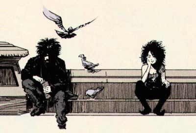 """Dream and Death, from """"The sound of her wings"""" by Neil Gaiman, Mike Dringenberg and Malcolm Jones III."""