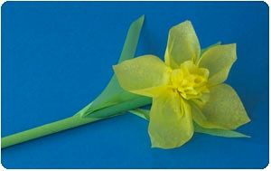 Crepe paper daffodil