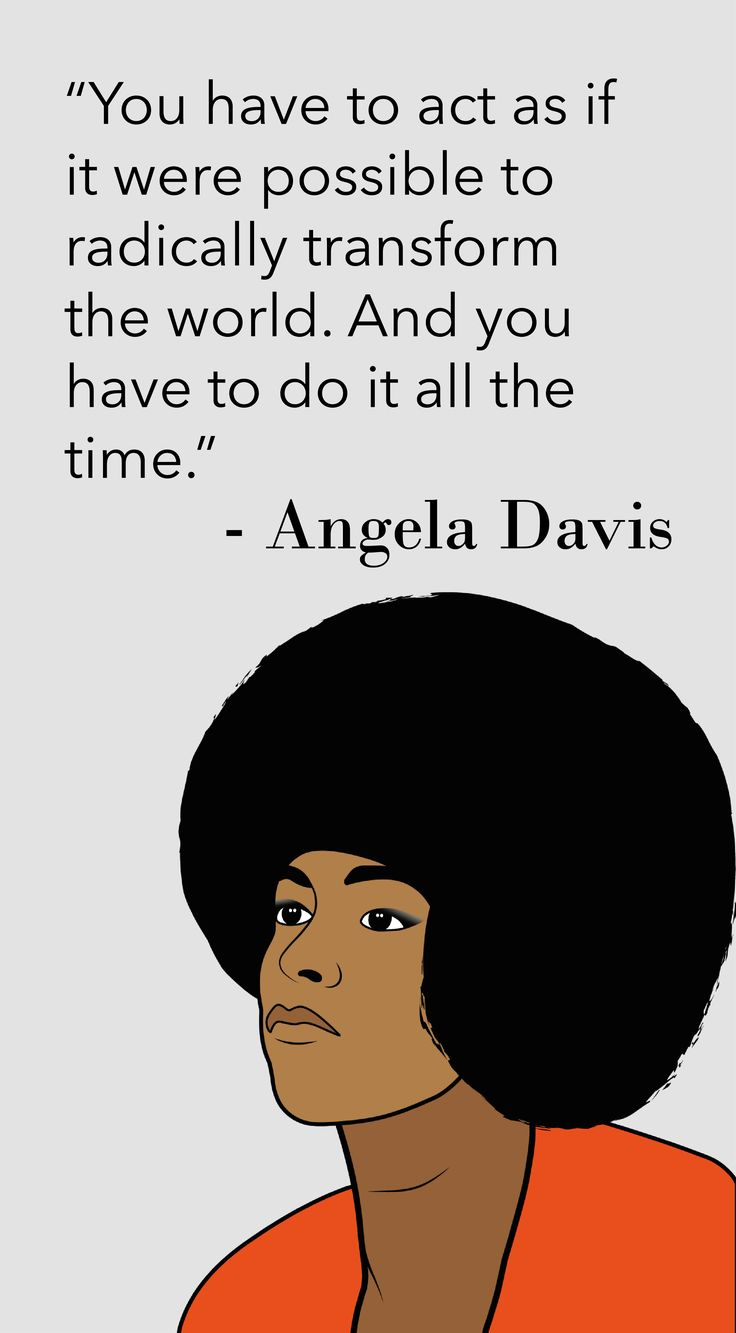 Black Friday surprise! Here's an extra quote from our Black Friday series. It is dedicated to civil rights activist and former Black Panther Angela Davis. Her words say it all: