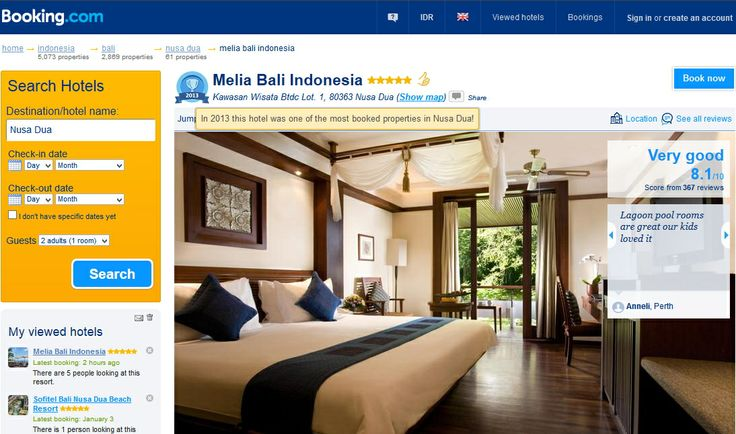 In 2013 @MELIÃ BALI is recognized as the most booked properties in Nusa Dua by Booking.com
