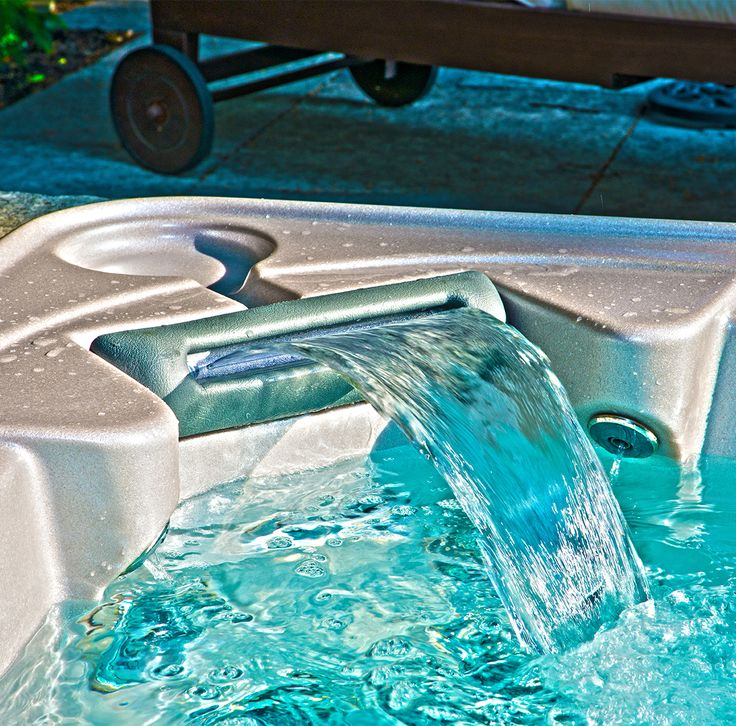 Soothing waterfall pillows are available on all Self-Cleaning Hydropool hot tubs!
