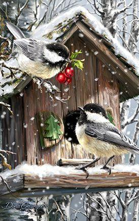 Snow Birds - Dona Gelsinger,,,,,Northwest Art Mall