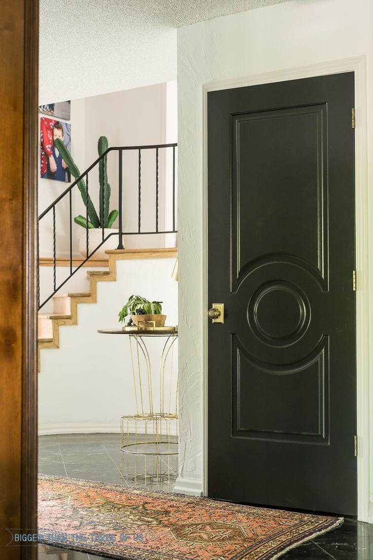 Studio Short Plate With A Craftsman Knob · Black Interior DoorsDark ...