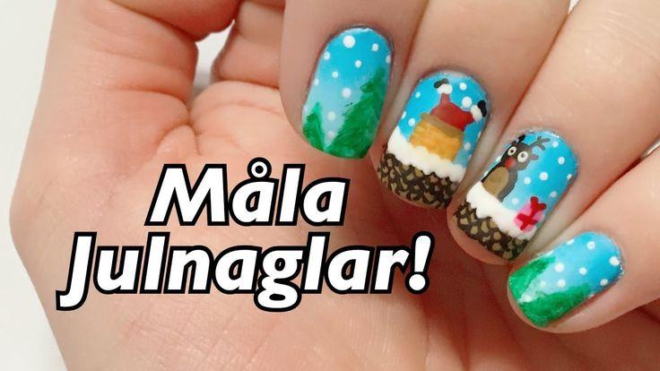 Mina julnaglar 2016! -Nagel tutorial svenska- JULNAGLAR