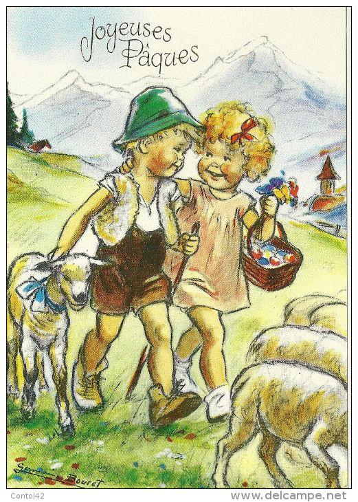enfants - Delcampe.fr | Cartes anciennes, Carte postale