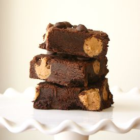 ... chocolate chunk brownies studded with homemade cookie butter/biscoff