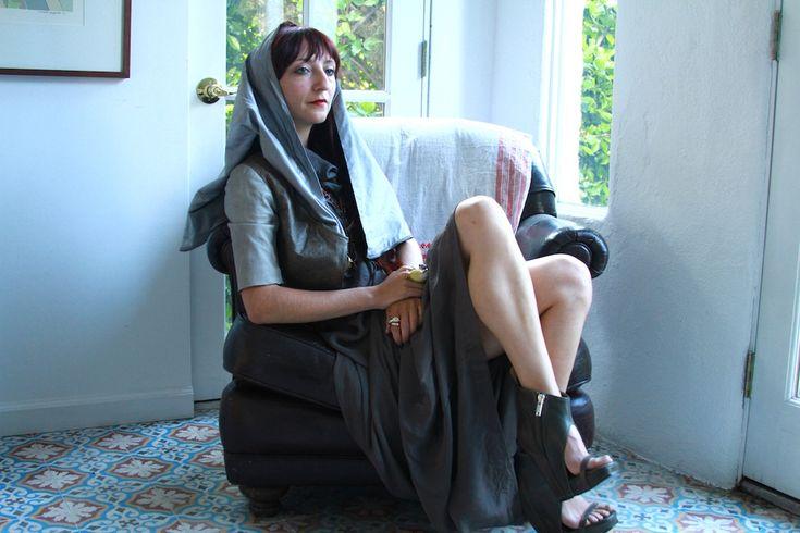 Scarlett Rouge for StyleLikeU.com, Rick Owens jacket & shoes