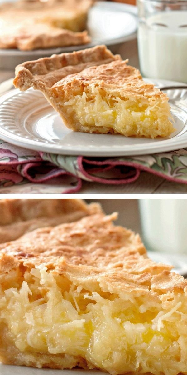 French Coconut Pie In 2020 Delicious Pies French Coconut Pie Desserts