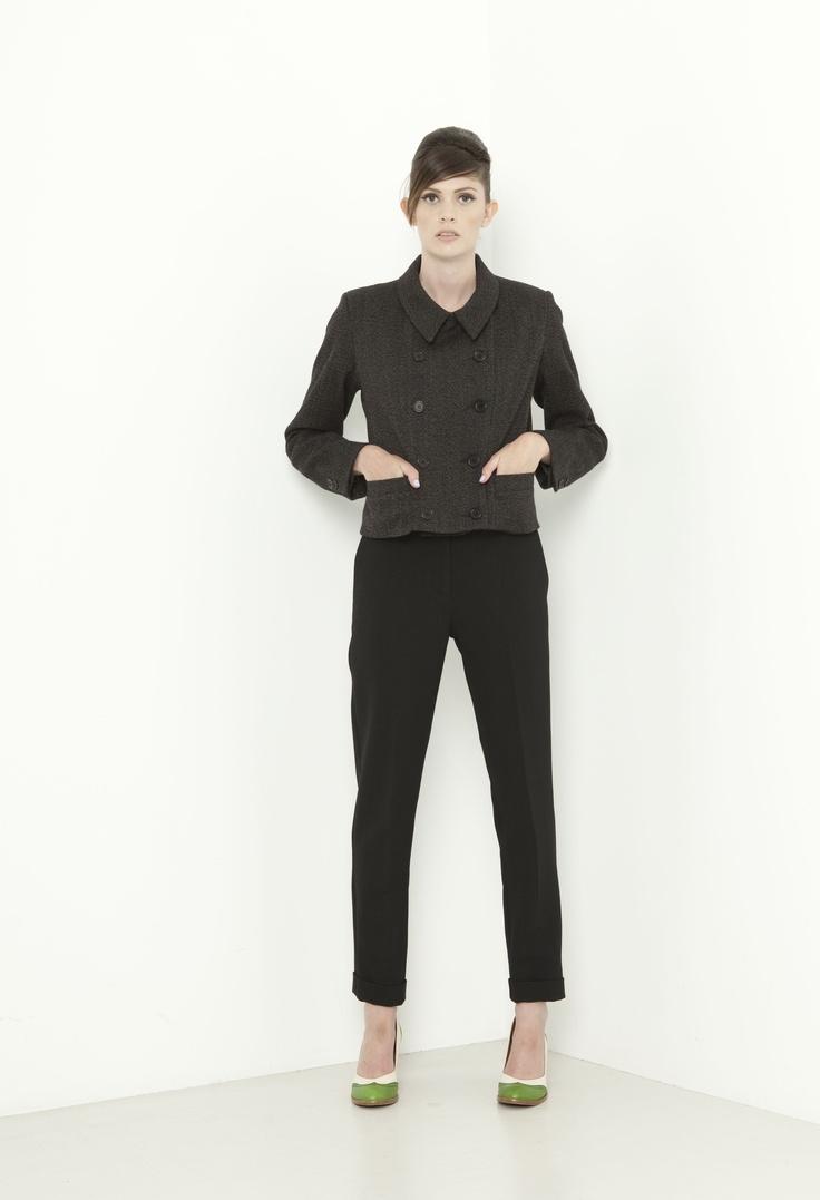 Snowdon Jacket - tweed  Garcon Pant - black