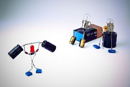 figuras con componentes electrónicos segunda parte - Taringa!