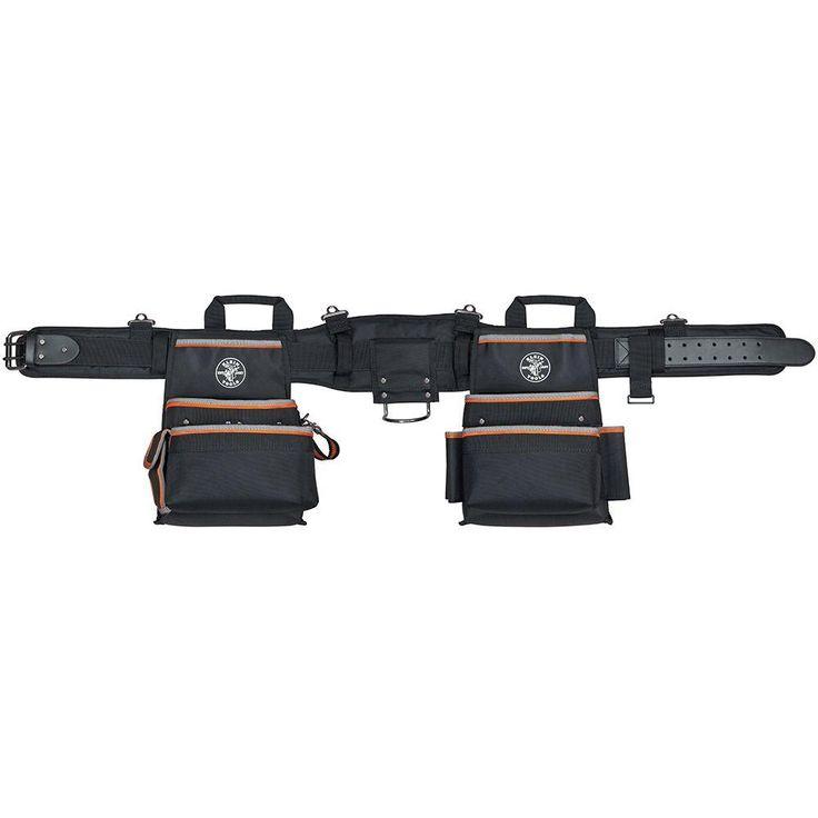 Klein Tools Tradesman Pro Medium Black Nylon Electrician's Tool Belt
