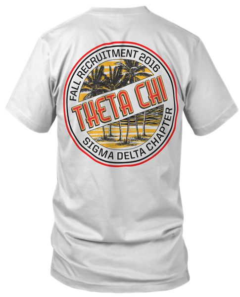 Theta Chi Rush T-shirt | Rush T-shirts | Greek T-shirts | Surf T-shirt | Fraternity Rush T-shirt | Recruitment T-shirts