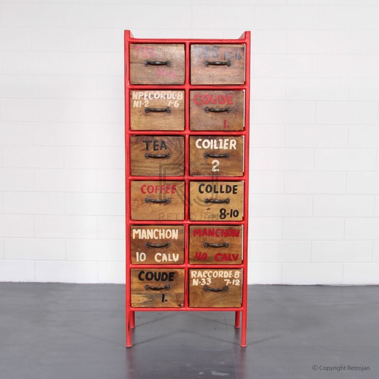 Josh Chest of Drawers - Red | $499.00