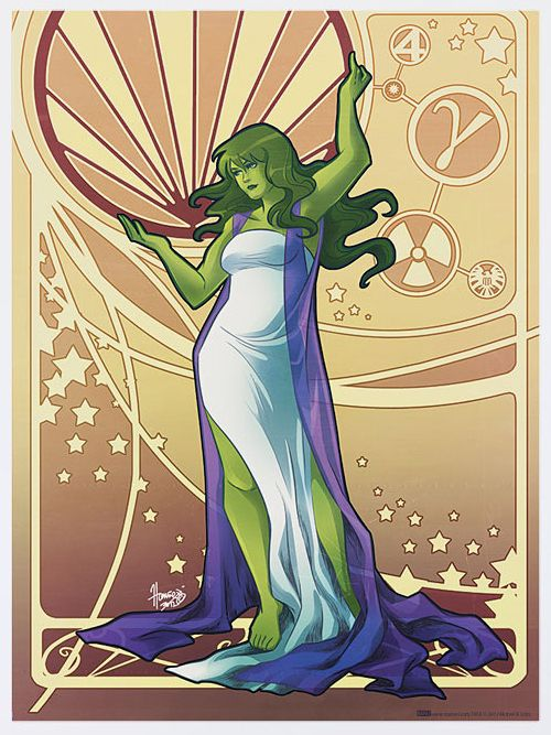 She-Hulk: | Marvel Heroines In Art Nouveau Gowns Never Looked SoStylish