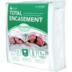 Lock-Up Total Encasement Bed Bug Protection for Extra Large Twin Box Spring, White