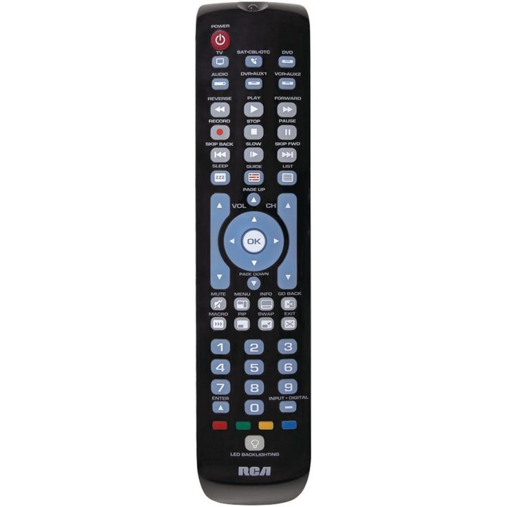 RCA RCRN06GR 6-Device Green Backlit Universal Remote