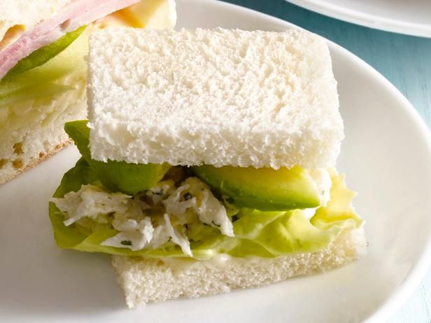 50 Tea Sandwiches: Crab Salad Tea Sandwich