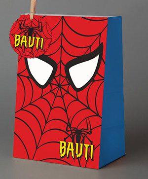 Hombre araña y Mujer Maravilla // Bolsitas golosineras personalizadas - comprar online