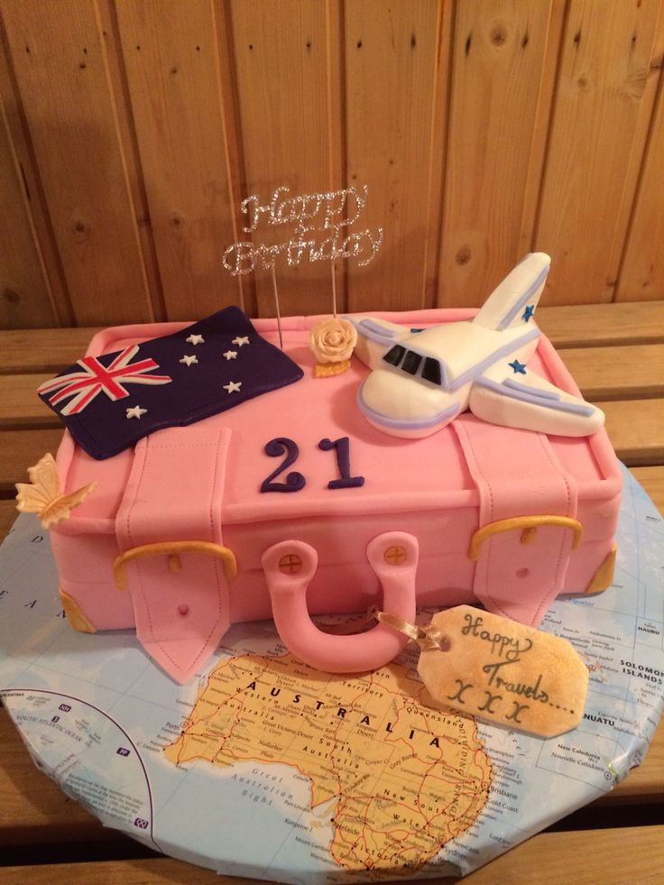 Had great fun making this cake, your a young lady's 21st plus she was off traveling