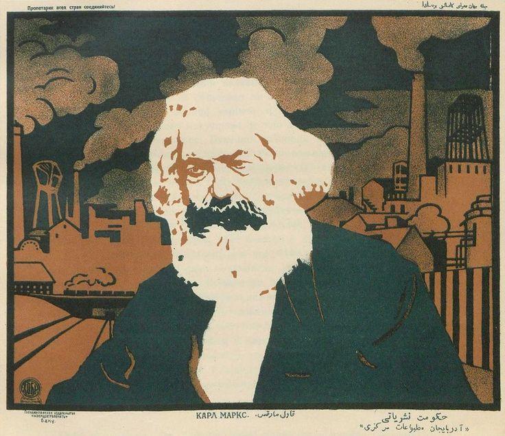 Soviet-Era Pictures — thesovietbroadcast:   Karl Marx, ☭     Плакат Карл...