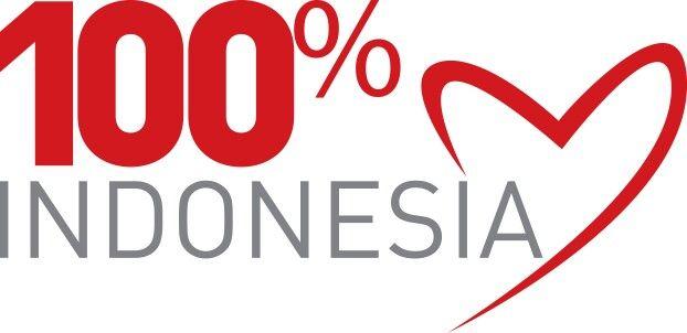 Logo 100% cinta Indonesia yang baru
