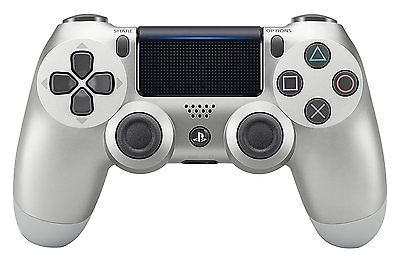 Official DualShock PS4 Wireless Controller for PlayStation 4 - Silver  NEWEST, Shipping FREE, Item location Burbank,CA,USA (  Color - Green Camouflage, Connectivity - Wireless, Platform - PS4, Exterior Color - Silver, UPC - 711719504320     )