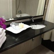 Orchid decorations @bathroom