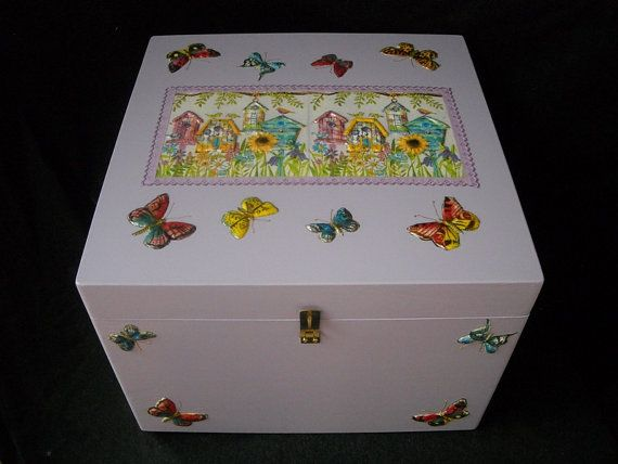 Lilac christening keepsake chest with Repousse by HandmadeByFiona, $182.00