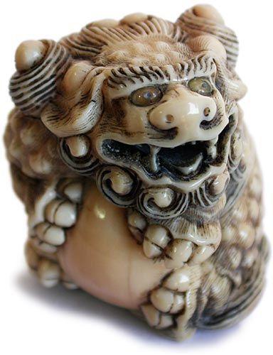 Shishi Lion Clenching Large Ball  Signature: unsigned, Circa: late 19th century