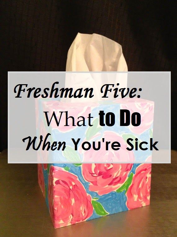 Getting sick in college is worse than being sick in high school! Here are some tips on what to do if it happens to you!