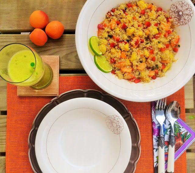 Entre Tachos e Sabores_ Salada de quinoa, alperce e manga