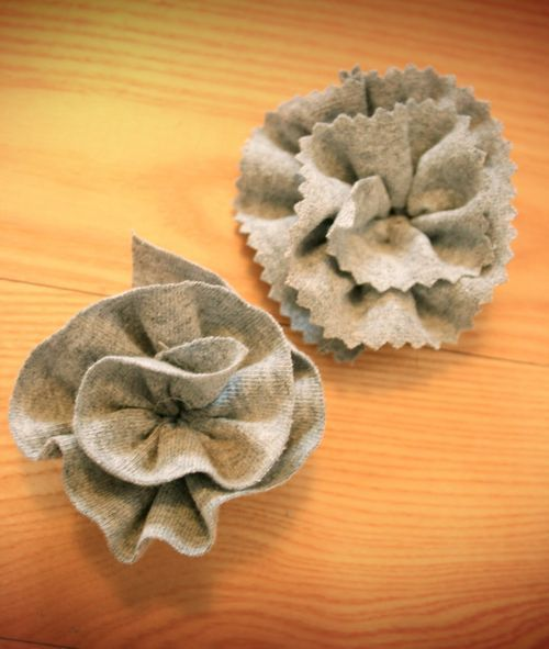 Another way to do tshirt flowers. Looks easier!