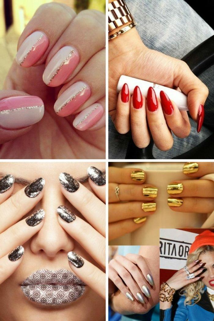 popuestas coloridas actuales en 2018, diseños de uñas en gel en ...