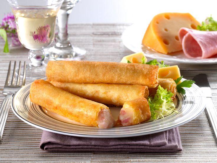 Φλογέρες με τυρί και ζαμπόν