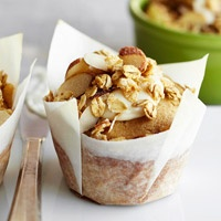 Maple Crunch Muffins with Maple Frosting