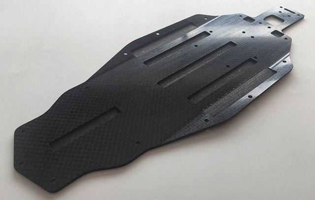 Châssis en fibre de carbone moulé H-Speed pour AE B5M