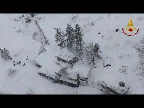 Vigili del Fuoco - Hotel Rigopiano - Interventi di soccorso dopo la vala...