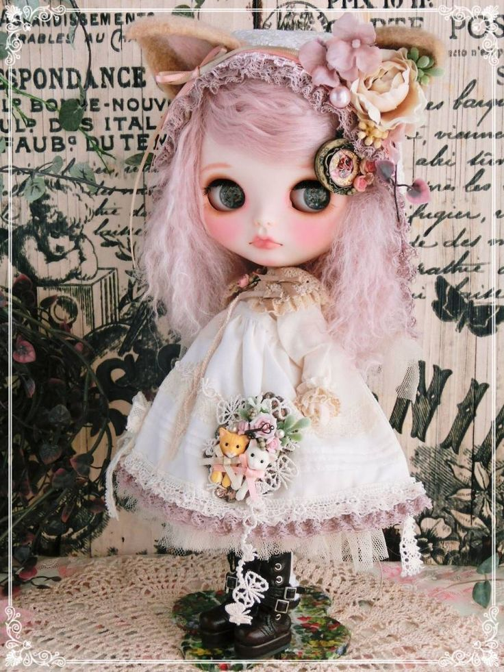* Prettam * Custom Blythe * Sweet Lolita × ecru beige ~ Deco cat. Admin - Auction - Rinkya! Japan Auction & Shopping