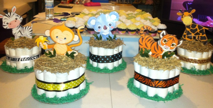 Zoo babies baby shower centerpieces baby shower ideas for Animals decoration games