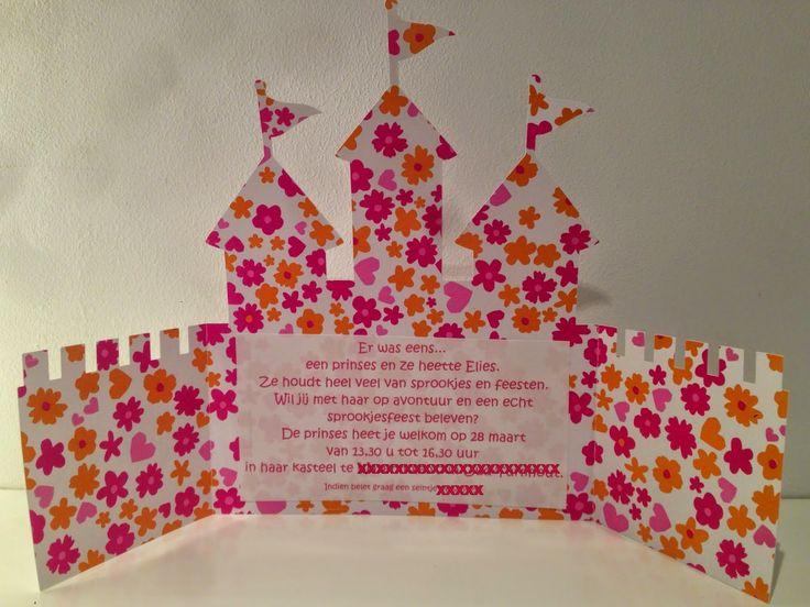 Uitnodigingen sprookjesfeest Elies... een kasteel