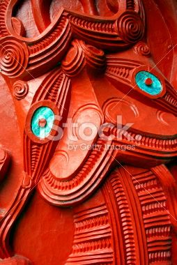 Close-Up of a Maori Statue Tiki Royalty Free Stock Photo