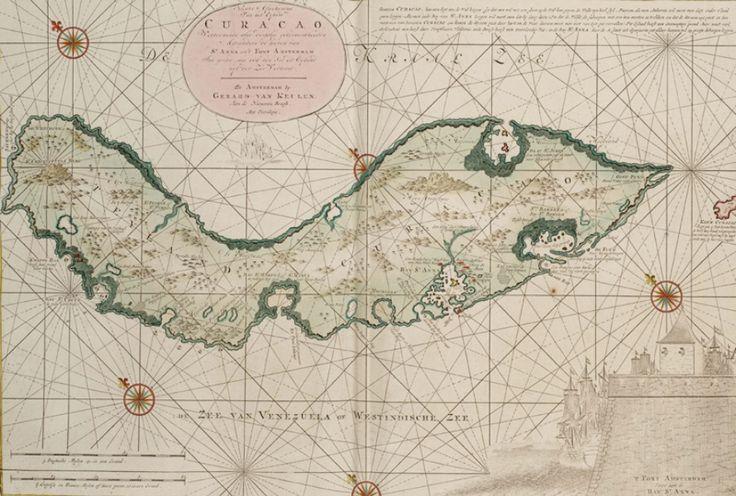 Zeekaart van het eiland Curaçao