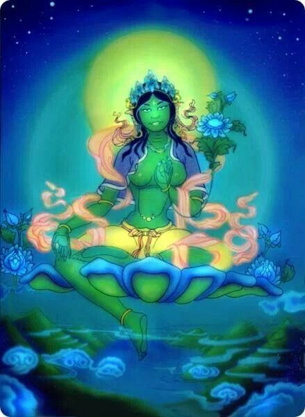 """Goddess Tara, """"mother of liberation"""", and represents the virtues of success in work and achievements."""