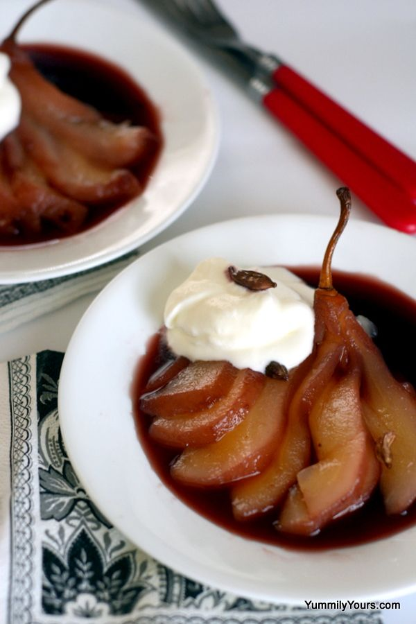 Poached pears – a dessert for weight- watchers and diabetics ...