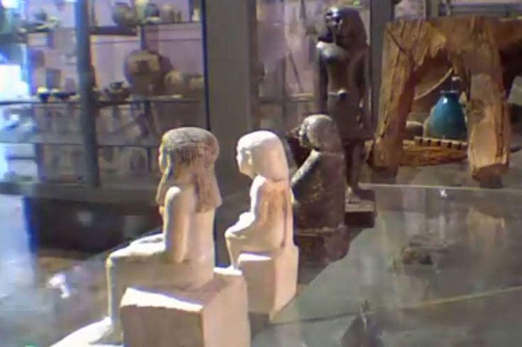 Antiga estátua egípcia é filmada se movendo em museu britânico | #AntigoEgito, #JackPhillips, #Múmia, #MuseuManchester, #NebSenu