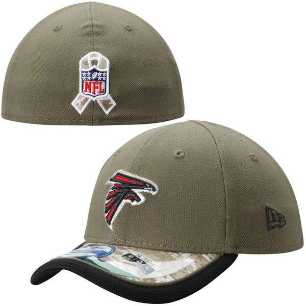 Toddler Atlanta Falcons New Era Olive Salute to Service 39THIRTY Flex Hat, Sale: $19.99 -  You Save: $5.00 http://shareasale.com/m-pr.cfm?merchantid=52555&userid=646297&productid=575354656&afftrack=falcons