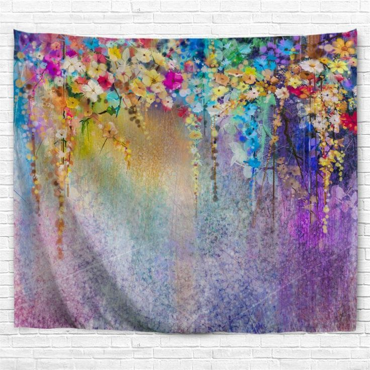 Floral Watercolor Painting 3d Printing Home Wall Hanging Tapestry