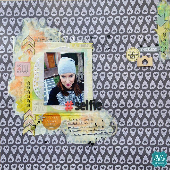Reto 414 Playscrap-Laura l- Explosión de color